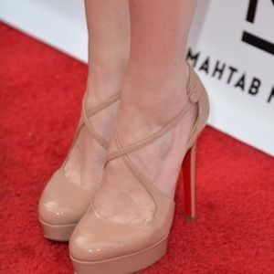 christian louboutin Borghese 140mm pumps nude